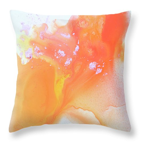 Abstract Throw Pillow featuring the painting Another Love by Claire Desjardins