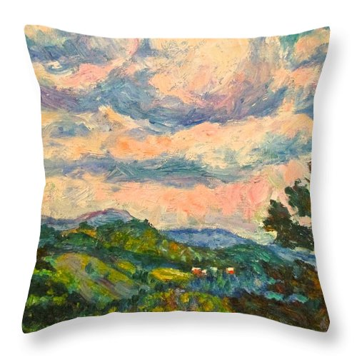 Landscape Paintings Throw Pillow featuring the painting Another Rocky Knob by Kendall Kessler