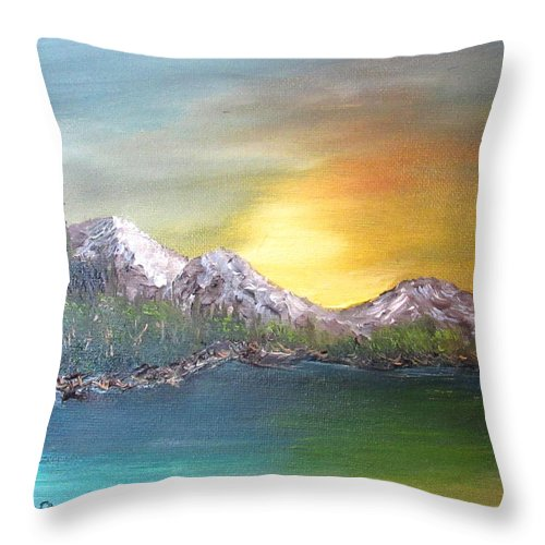 Morning Throw Pillow featuring the painting Another Sunny Morning by Danny Lowe