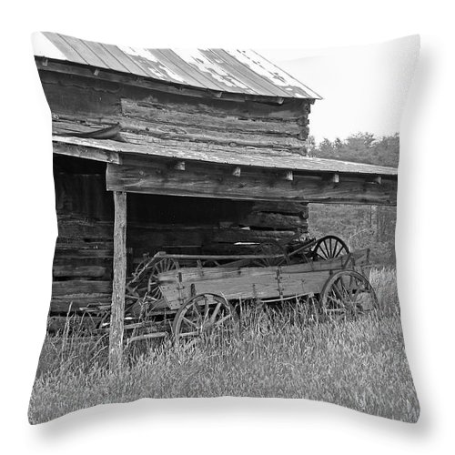 Black And White Throw Pillow featuring the photograph Another Time by Suzanne Gaff