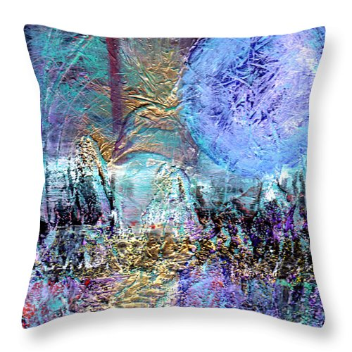 Surreal Throw Pillow featuring the painting Another World by Wayne Potrafka