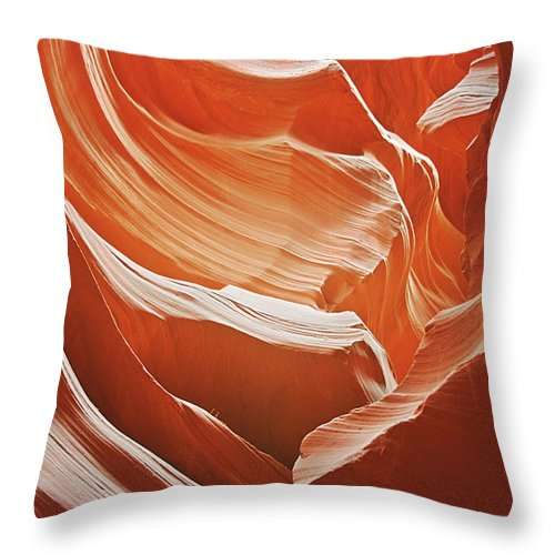 Southwest Throw Pillow featuring the photograph Antelope Canyon - So Much Brilliance by Christine Till