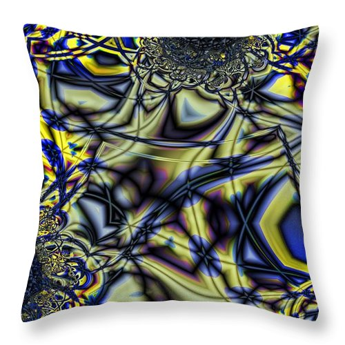 Coal Throw Pillow featuring the digital art Anthricite Pocket by Ron Bissett