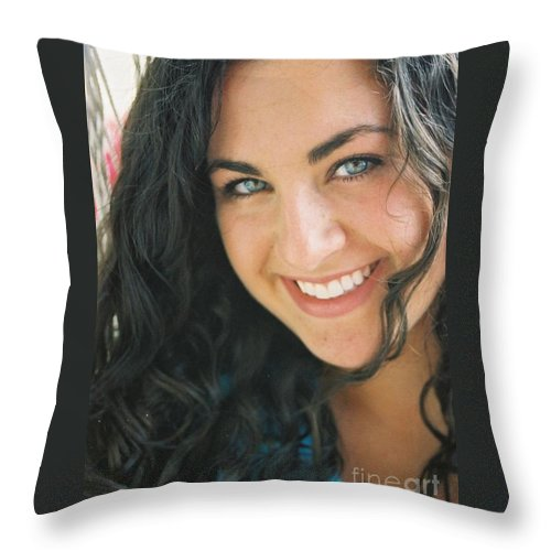 Girl Throw Pillow featuring the photograph Anticipation by Nadine Rippelmeyer