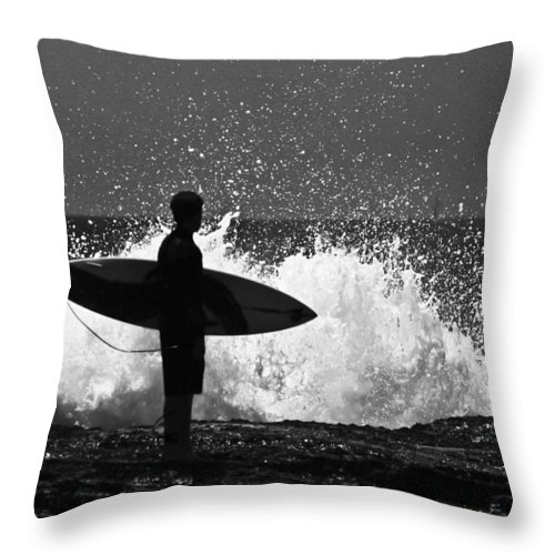 Surfer Throw Pillow featuring the photograph Anticipation by Sheila Smart Fine Art Photography