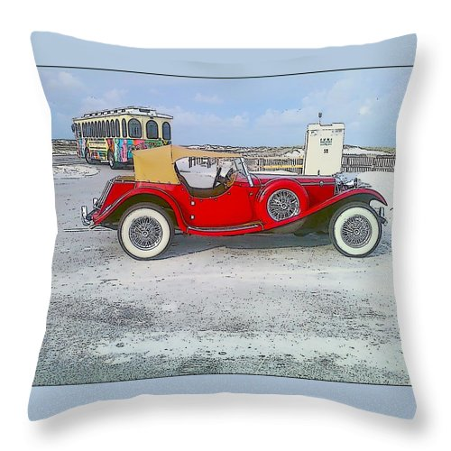 Old Car Throw Pillow featuring the photograph Antique Car by Michelle Powell