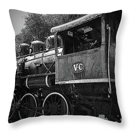 Locomotive Throw Pillow featuring the photograph Antique Loco by Jost Houk