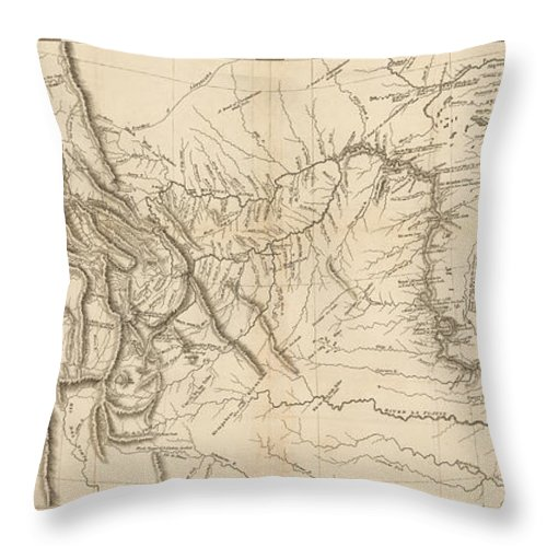 Map Of America Lewis And Clark.Antique Map Lewis And Clark S Track Across North America Throw