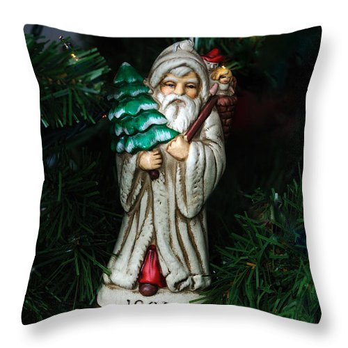 Card Throw Pillow featuring the photograph Antique Ornament 11 by Edward Sobuta