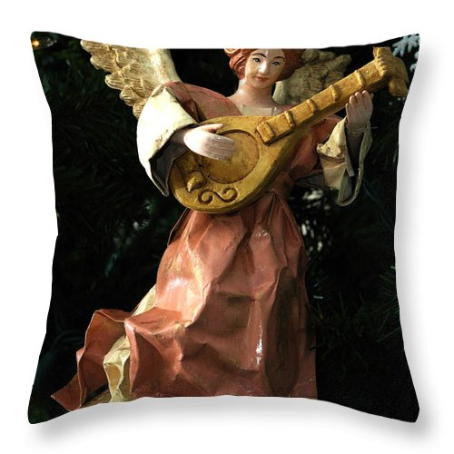 Card Throw Pillow featuring the photograph Antique Ornament 13 by Edward Sobuta