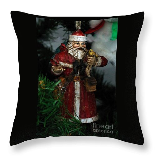 Card Throw Pillow featuring the photograph Antique Ornament 2 by Edward Sobuta