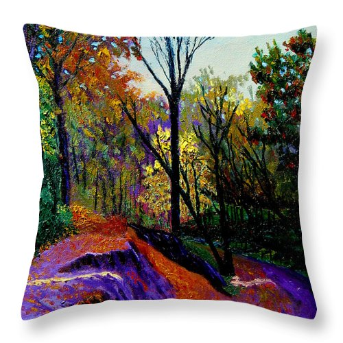Twilight Throw Pillow featuring the painting Ap 10 26 by Stan Hamilton