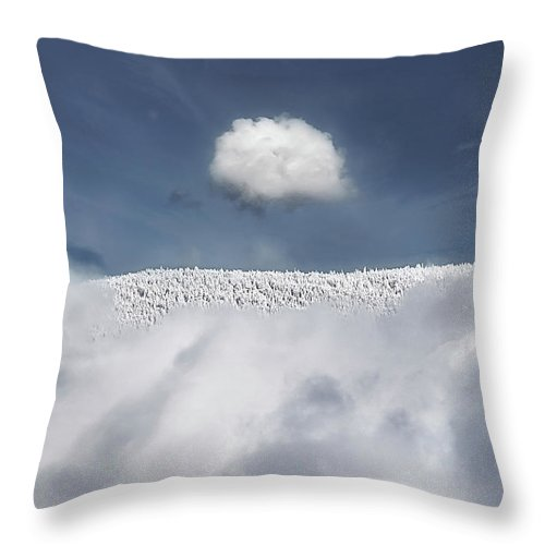 Mountain Throw Pillow featuring the photograph Apex by John Poon