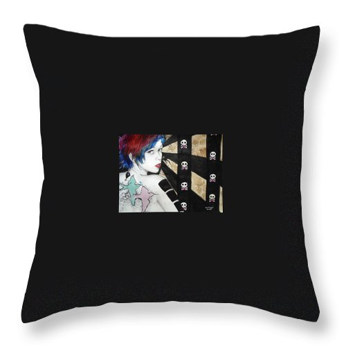 Birds Throw Pillow featuring the painting Apnea by Freja Friborg