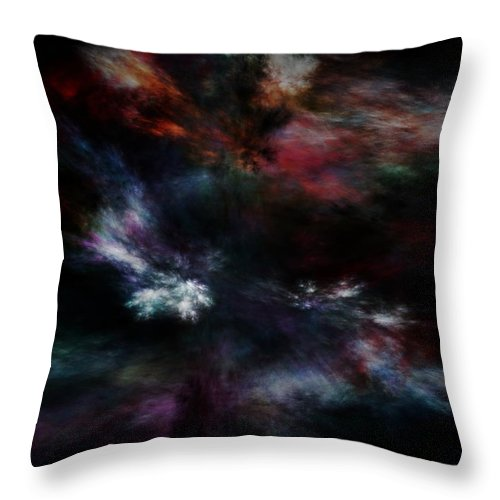 Abstract Digital Painting Throw Pillow featuring the digital art Apocalyptical Dawn by David Lane
