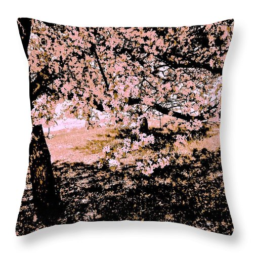 Blooming Tree Throw Pillow featuring the photograph Apollo And The Muses by Elizabeth Tillar