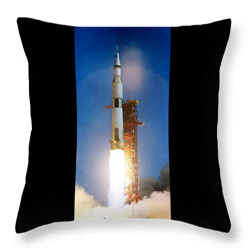 Apollo 11 Throw Pillow featuring the photograph Apollo Eleven by Nasa