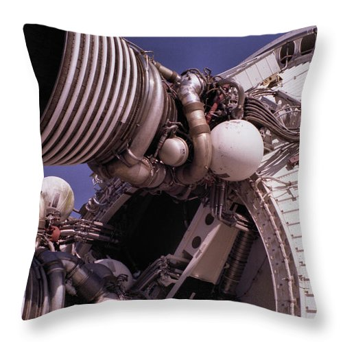 Technology Throw Pillow featuring the photograph Apollo Rocket Engine by Richard Rizzo