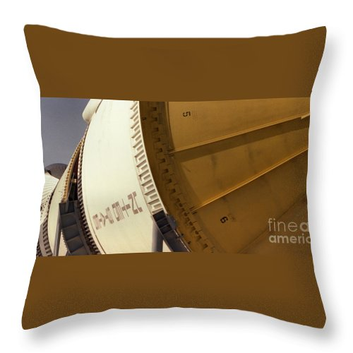 Technology Throw Pillow featuring the photograph Apollo Rocket by Richard Rizzo