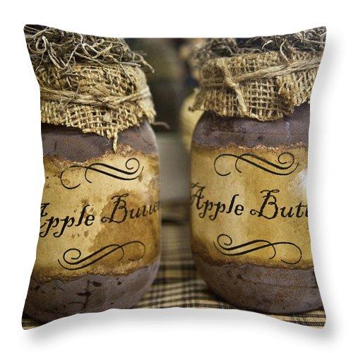 Apple Throw Pillow featuring the photograph Apple Butter by Douglas Barnett