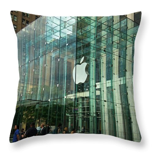 Apple Throw Pillow featuring the photograph Apple by Paul Mangold