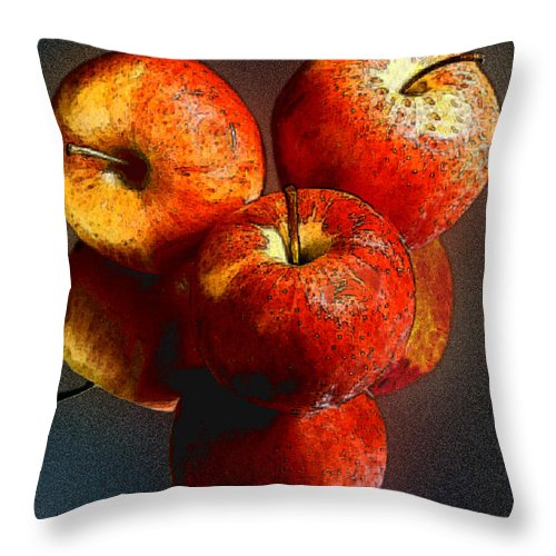 Apples Throw Pillow featuring the photograph Apples And Mirrors by Paul Wear