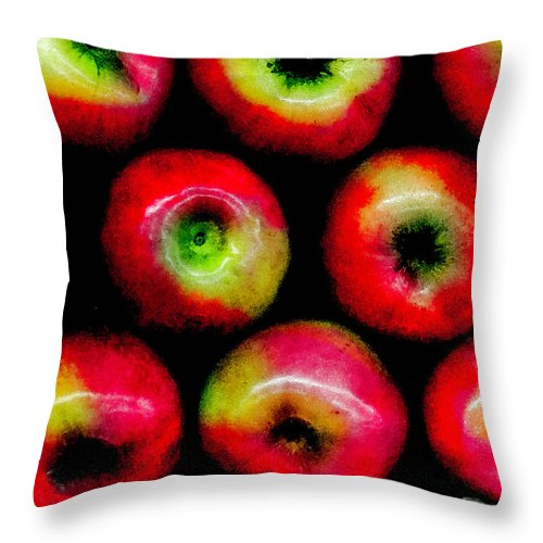 Apples Throw Pillow featuring the photograph Apples by Madeline Ellis