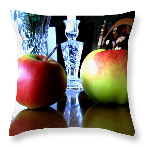 Apples Throw Pillow featuring the photograph Apples Still Life by Will Borden
