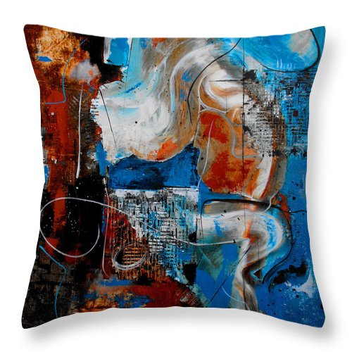 ruth Palmer Throw Pillow featuring the painting Approach The Throne by Ruth Palmer