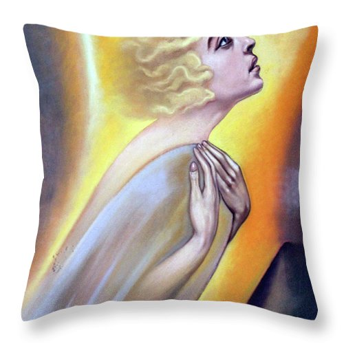 Woman Throw Pillow featuring the photograph Approaching The Light by Munir Alawi