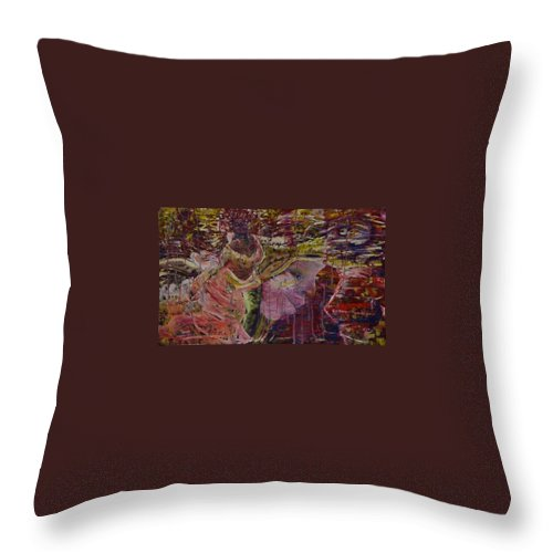 Portrait Throw Pillow featuring the painting April 29th. by Peggy Blood