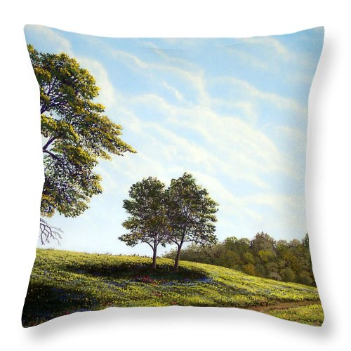 Wilderness Throw Pillow featuring the painting April Afternoon by Frank Wilson