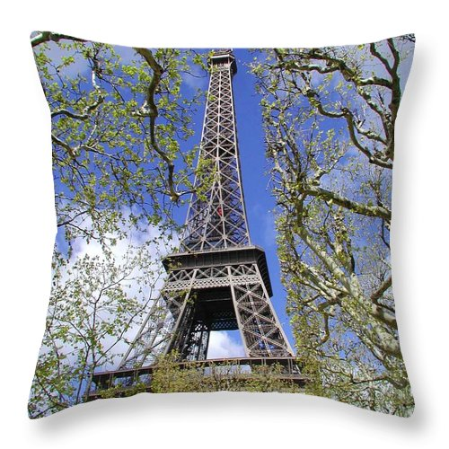 Paris Throw Pillow featuring the photograph April In Paris by Tom Reynen
