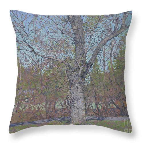 April Throw Pillow featuring the painting April by Simon Kozhin