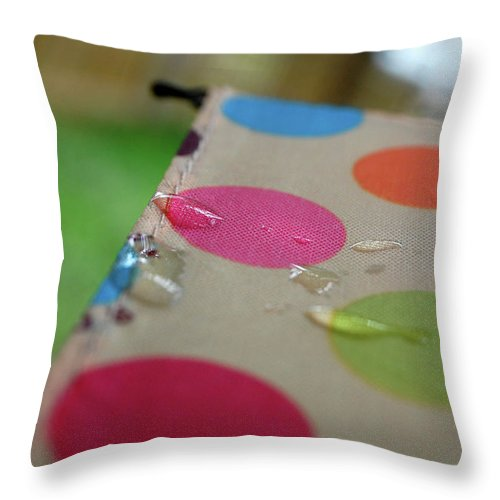 Nature Throw Pillow featuring the photograph April Showers by Jacqueline Dickens