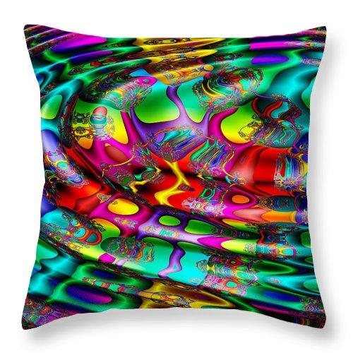 Multicolor Throw Pillow featuring the digital art April's Fool by Robert Orinski