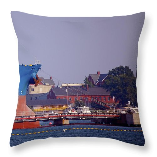 Aqua Throw Pillow featuring the photograph Aqua In Dock by Faith Harron Boudreau