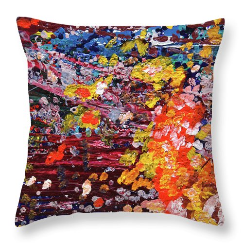 Fusionart Throw Pillow featuring the painting Aquarium by Ralph White