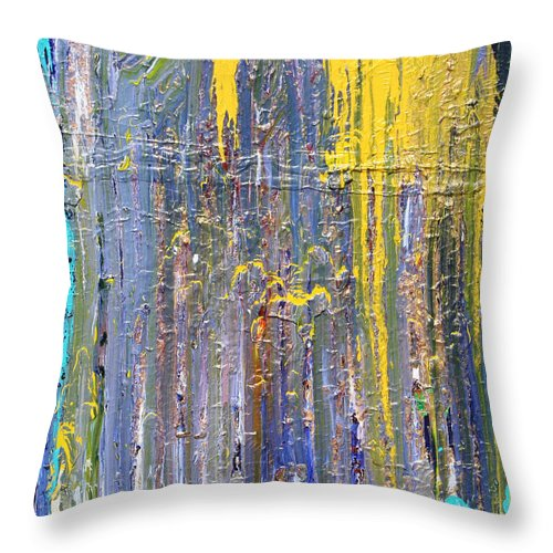 Fusionart Throw Pillow featuring the painting Arachnid by Ralph White