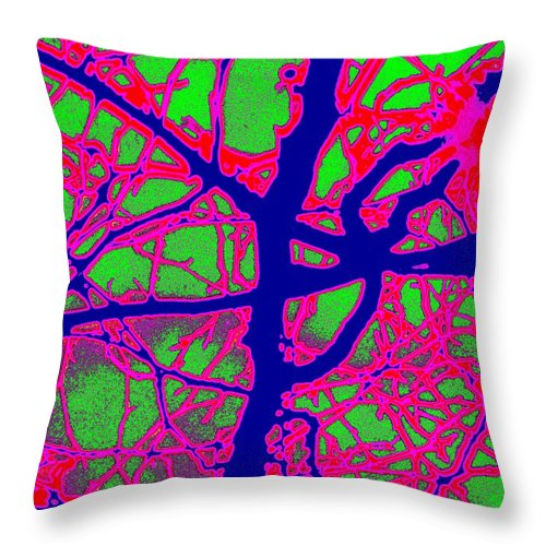 Abstract Throw Pillow featuring the digital art Arbor Mist 2 by Tim Allen