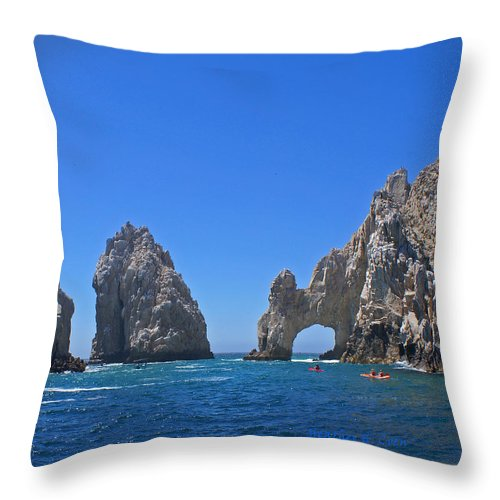 Mexico Throw Pillow featuring the photograph Arch At Cabo San Lucas by Heather Coen