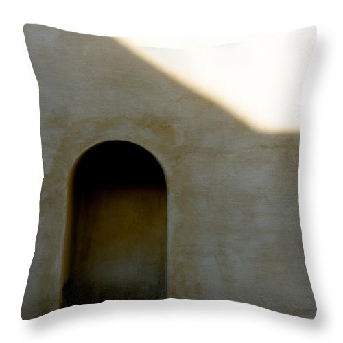 Shadow Throw Pillow featuring the photograph Arch In Shadow by Dave Bowman