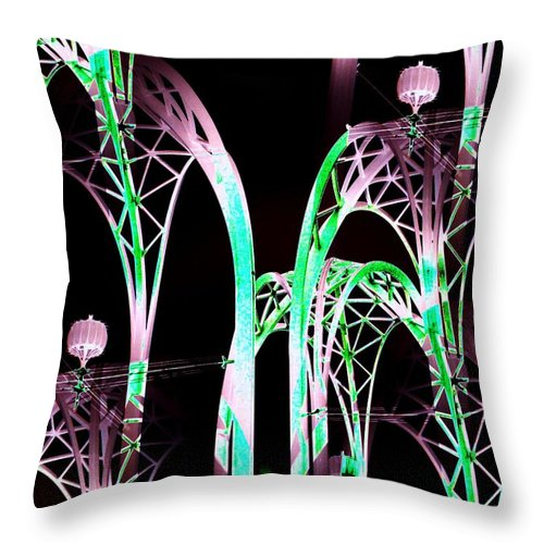 Seattle Throw Pillow featuring the digital art Arches 3 by Tim Allen