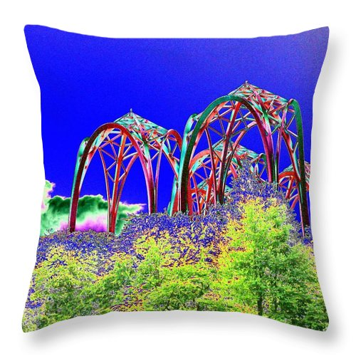 Seattle Throw Pillow featuring the photograph Arches 6 by Tim Allen
