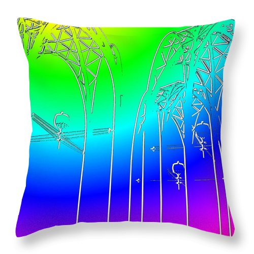 Seattle Throw Pillow featuring the photograph Arches 7 by Tim Allen