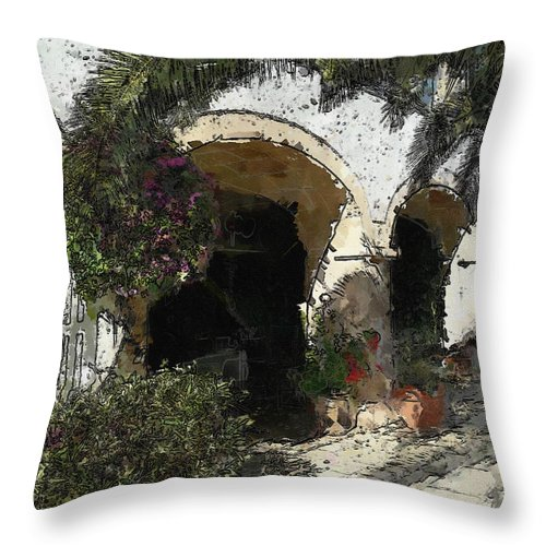 Ebsq Throw Pillow featuring the photograph Arches by Dee Flouton