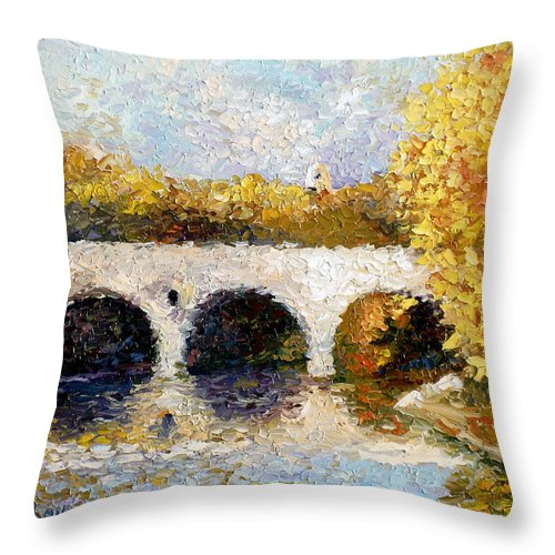 Landscape Throw Pillow featuring the painting Arches by Lewis Bowman