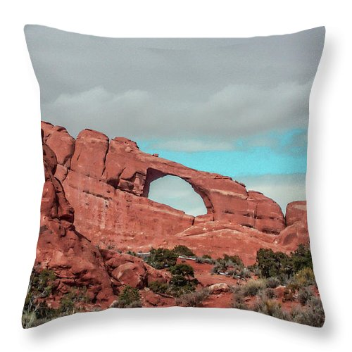 Arches National Park Throw Pillow featuring the photograph Arches National Park 1 by Tommy Anderson