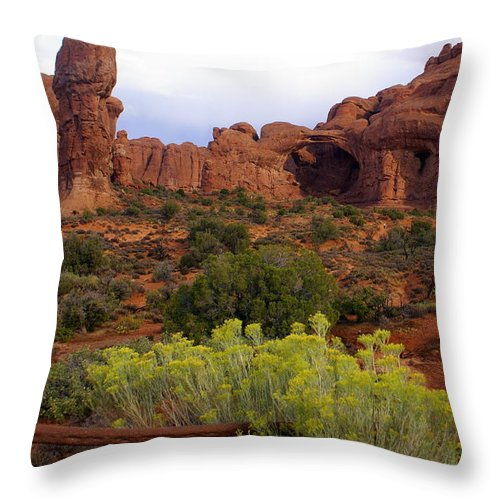 Southwest Art Throw Pillow featuring the photograph Arches Park 1 by Marty Koch