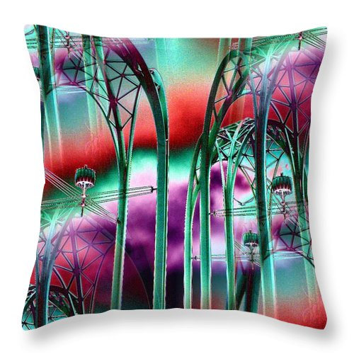 Seattle Throw Pillow featuring the digital art Arches by Tim Allen